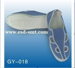 ESD Light Blue Canvas Mesh Butterfly Shoes