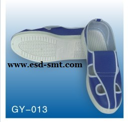 ESD Blue Leather Butterfly Shoes